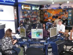 Browsing at an Internet Café